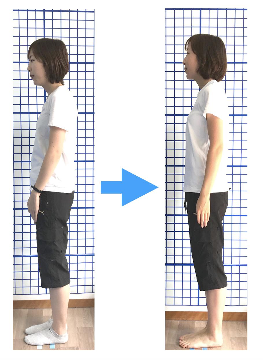 姿勢スタイルが改善!